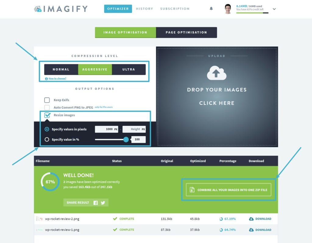 Imagify web app