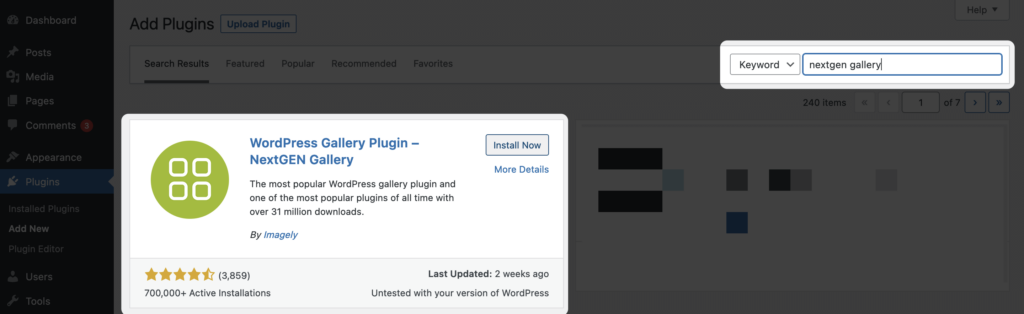 How to Create a Photo Gallery In WordPress Using NextGEN Gallery - Step 1