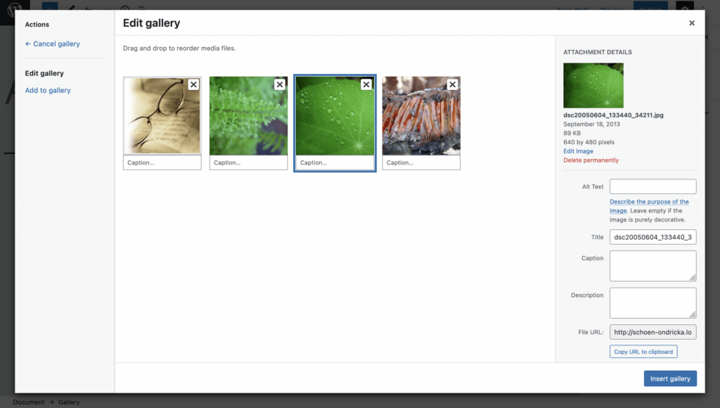 How to Create an Image Gallery with WordPress - Step 4