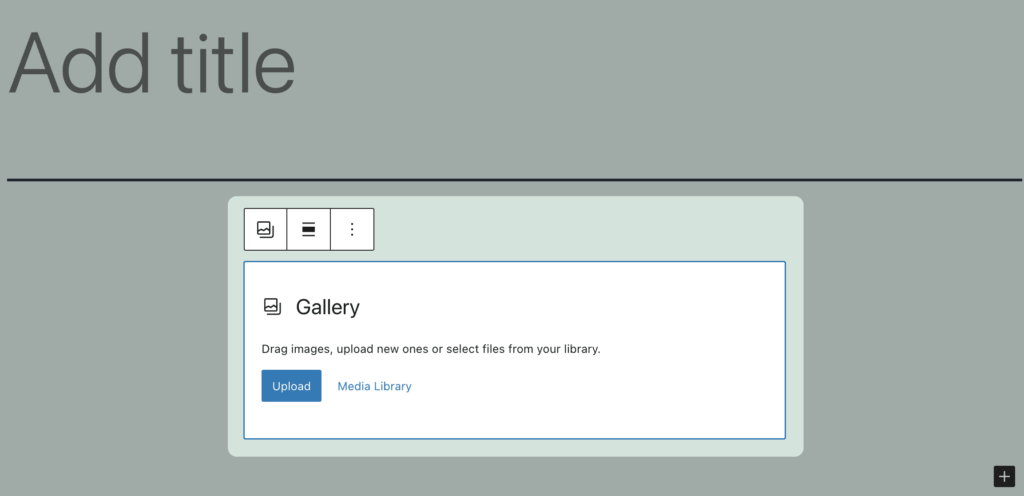 How to Create an Image Gallery with WordPress - Step 2