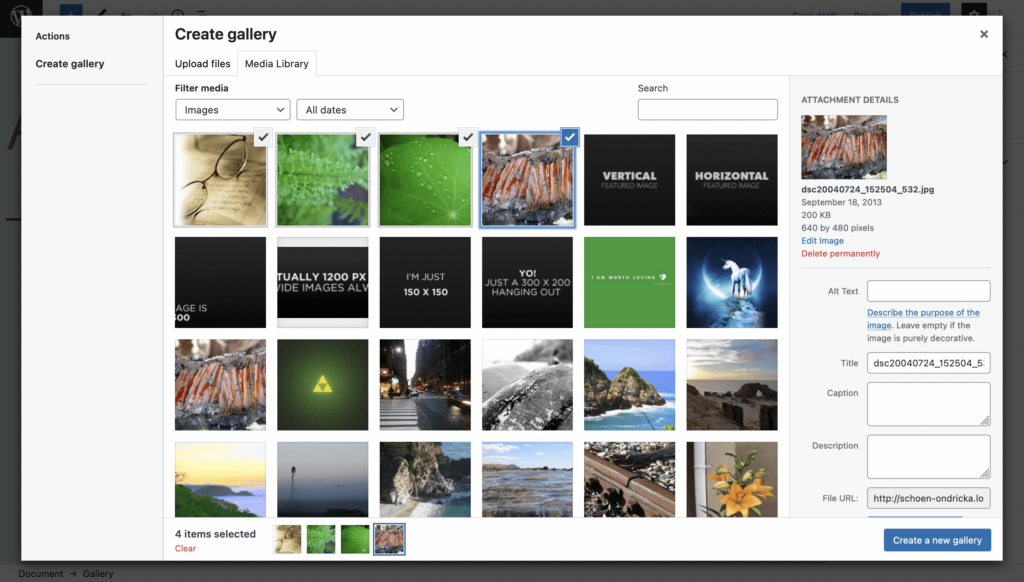 How to Create an Image Gallery with WordPress - Step 3
