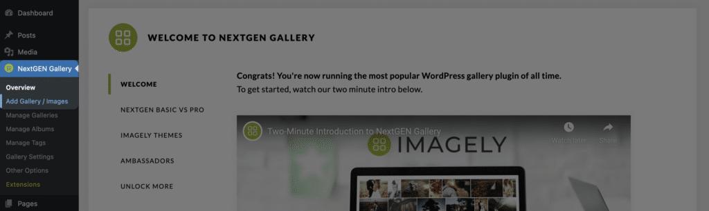 How to Create a Photo Gallery In WordPress Using NextGEN Gallery - Step 2