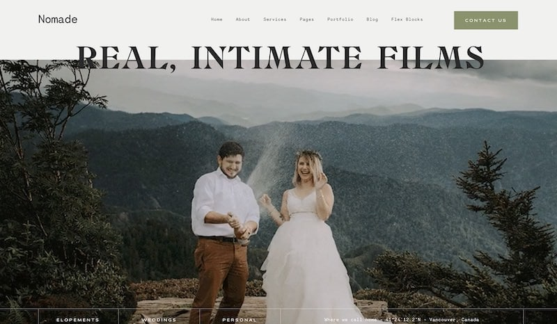 Nomade - Best WordPress Themes for Photographers